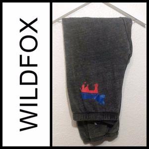 NEW Wildfox   Democratic donkey Grey Sweatpants